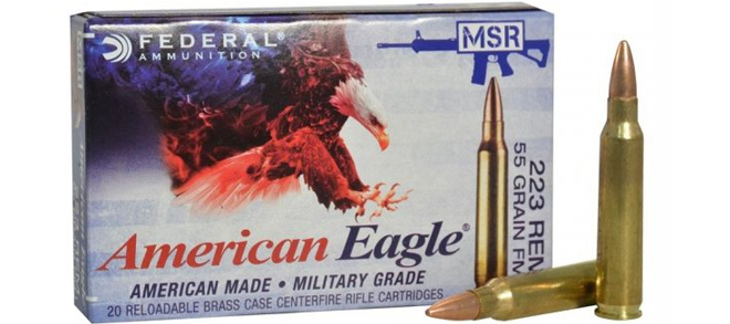 American Eagle MSR .223 REM 55gr FMJ – 20RDS/PK