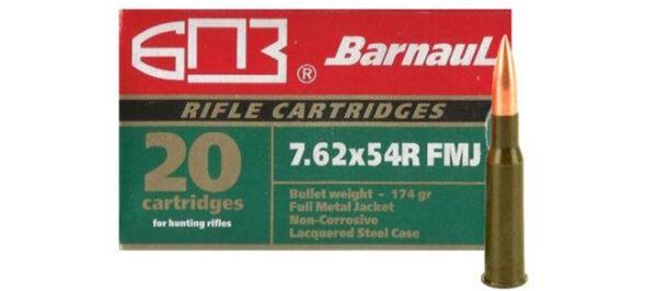 Barnaul 7.62x54R 174gr FMJ – 20 Rounds