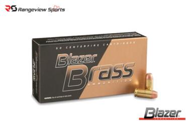 Blazer Brass 40 S&W Pistol Ammo, 180Gr FMJ – 50Rds Rangeviewsports Canada
