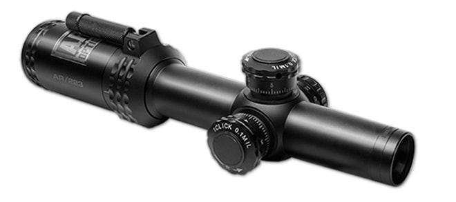 Bushnell AR Optics 1-4x24mm Throwdown PCL With Illuminated BTR Reticle