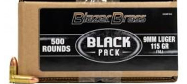 CCI Blazer Brass Black Pack 9mm 115gr 500RDS