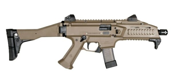 CZ Scorpion EVO 3 S1 9x19mm Luger In FDE W Stock right rangeview sports canada