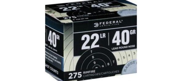 Federal Ammunition 22LR 40gr 275 rds Rimfire