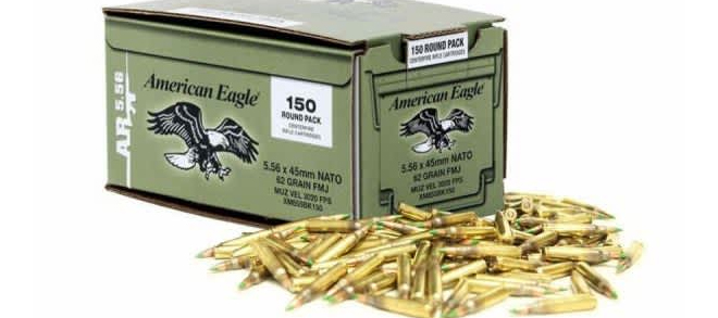 Federal Lake City Ammunition 5.56x45mm 62gr BALL M855 - Pack of 600RDS