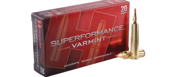 Hornady .204 RUGER Superformance Varmint 32gr V-Max - Pack of 20 Rounds