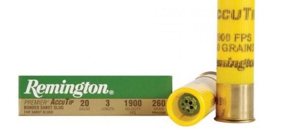 Remington AccuTip 20g, 2 3/4 260gr Sabot Slug – Pack of 5 Shells
