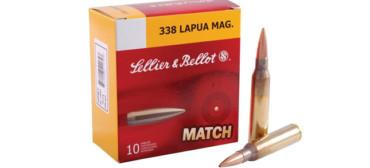 Sellier & Bellot .338 LAPUA MAG, Match, HPBT, 250 Gr, Box of 10