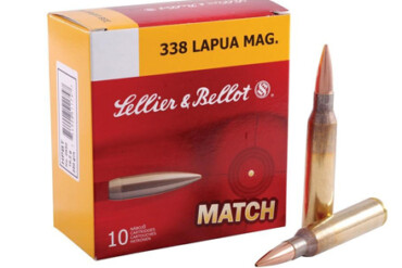 Sellier & Bellot .338 LAPUA MAG, Match, HPBT, 250 Gr, Box of 10