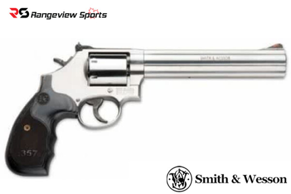 Smith & Wesson 686 Plus Deluxe, Stainless, Dark Laminate, Revolver 7-Shot 7″ .357 Mag Rangeviewsports Canada copy