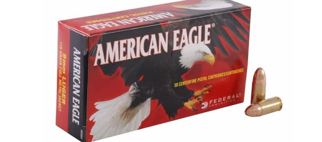 American Eagle 9mm Luger 147gr FMJ FP – Box Of 50 Rounds
