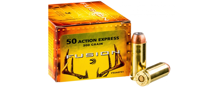 Federal Fusion, 50 AE Action Express, Ammunition, 300 Gr, Jacketed Hollow Point - 20 Rounds/Box