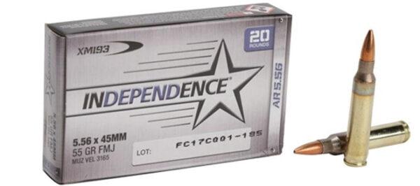 Independence 5.56x45 55gr FMJ, 20rnd