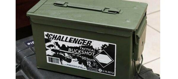 """Challenger Tactical Buckshot 4 Magnum Buck 12GA 2-3/4"""" 175rds"""