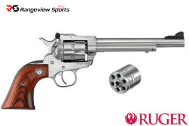 Ruger New Model Single-Six Convertible Revolver, 22LR:22WMRF Stainless 6.5 Barrel*Cannot ship outside Canada* Rangeviewsports Canada