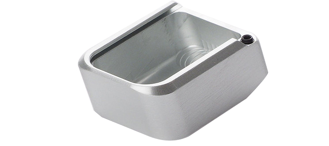 CZ 75 Aluminum Magazine Base Plate - Silver