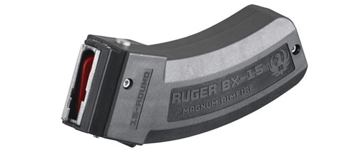Ruger BX-15 Magnum Magazine, 15rnd, .22WMR, .17HMR