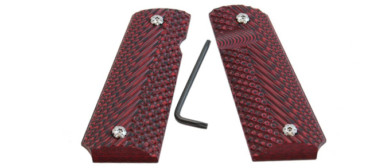 Double Alpha 1911 Grips Red