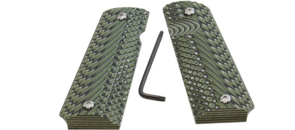 Double Alpha 1911 Grips Green