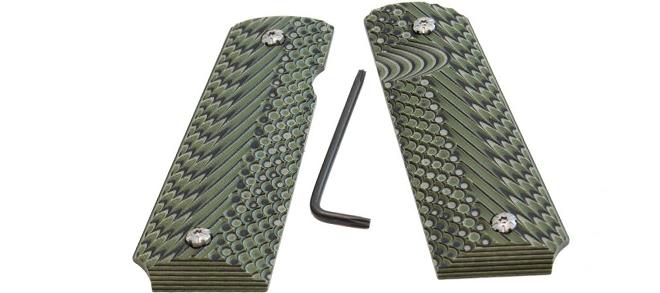 Double Alpha 1911 Grips Green