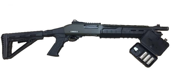 Canuck Commander, 12ga Pump Shotgun, Black