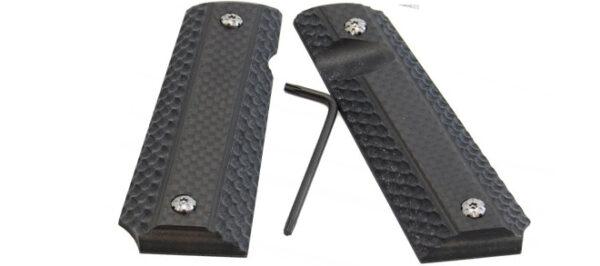 Double Alpha 1911 Grips Carbon Fiber
