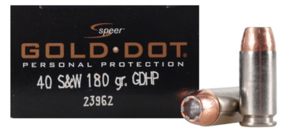 Speer Gold Dot 40 S&W 180gr GDHP box of 20