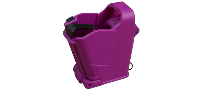 UpLula Universal Pistol Magazine Loader - 9mm to .45ACP, Purple