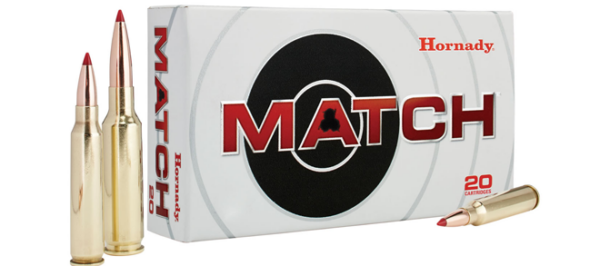 Hornady 308 Win, 168gr ELD Match, Ammunition