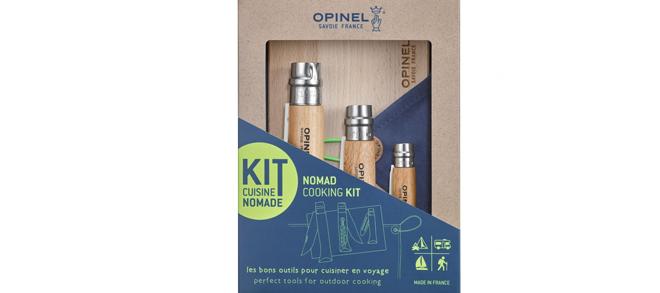 Opinel Nomad Cooking Kit, 3 Folding Knife Set