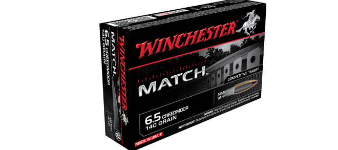 Winchester, 6.5mm Creedmoor, 140gr BTHP Match, Ammunition