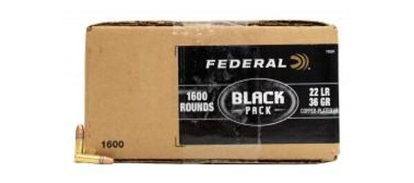 American Eagle 22 LR Black Pack 36gr CPHP - 1600rds