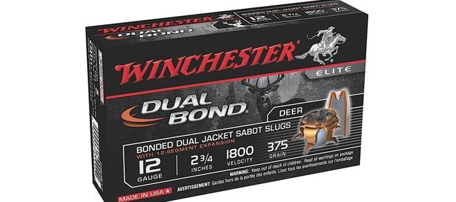 Winchester Dual Bond, 12 Ga, 375gr Bonded Dual Jacket Slugs