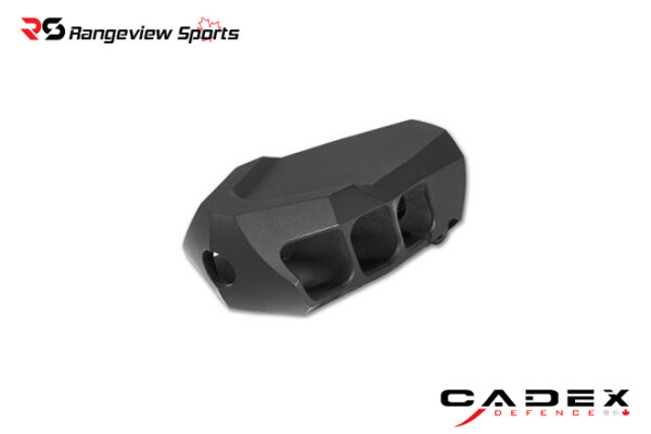 Cadex MX1 Mini Muzzle Brake 5:8-24 Threads – Black Rangeviewsports Canada