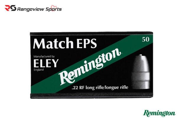 Remington Eley Match 22 LR Rimfire Ammo, 40Gr FN – 50Rds Rangeviewsports Canada