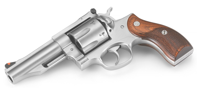 "Ruger Redhawk .45 ACP Revolver 4.2"" Barrel, Stainless, Wood Grips"