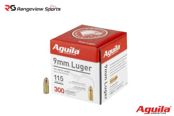Aguila 9mm Pistol Ammo, 115Gr FMJ – 300Rds Rangeviewsports Canada