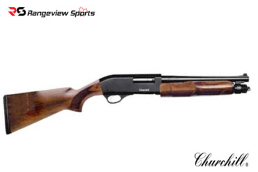 Churchill Pump 12ga 3″, 12.6″ Barrel, Wood Stock Rangeviewsports Canada
