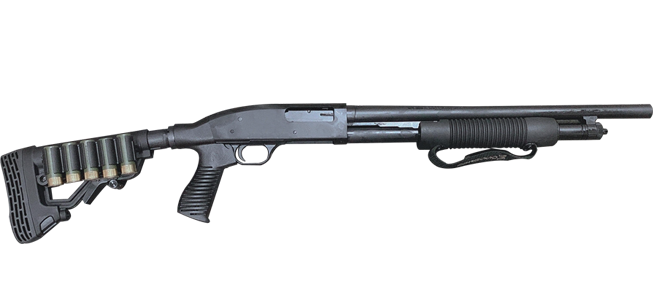 Mossberg 500 Persuader Tactical, 5+1, Cylinder Bore - Adj. Black, Synthetic [Online Special Only]