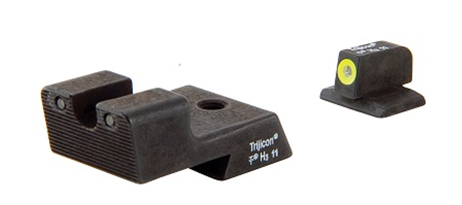Trijicon HD™ Night Sights - 1911 Novak Style Low Mount Dovetail Cut - Yellow