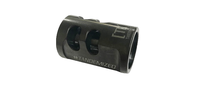 TandemKross Game Changer Pro .22LR Compensator for Ruger MK Series, SW22 Victory, etc. - Black