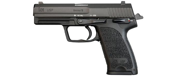 """Heckler & Koch USP 9mm, 4.25"""", V1, BLK"""