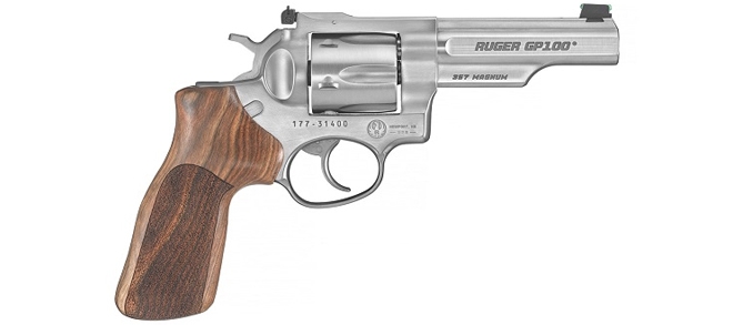 Ruger GP100 Match Champion .357 Mag, 4.2, Hardwood Grips rangeview sports canada