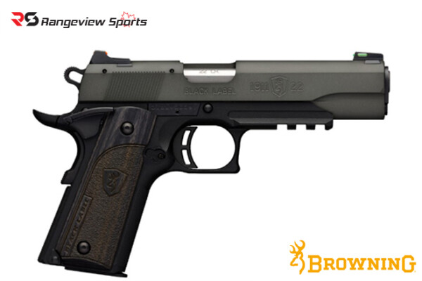 Browning 1911-22 Black Label Gray Pistol with Rail, 22 LR rangeviewsports canada