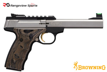 Browning Buck Mark Plus Stainless UDX Pistol, 22 LR rangeviewsports canada
