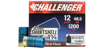 Challenger Short Shell 12Ga, 14 Pellet, #4 Buck - 20rds rangeview sports canada