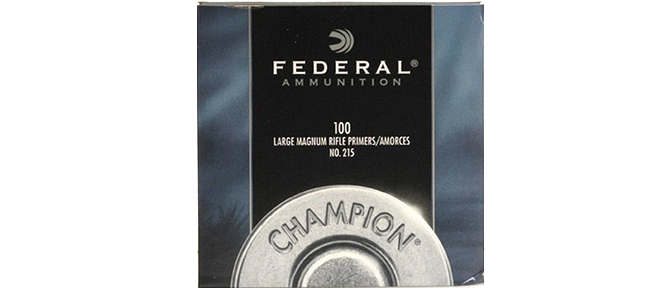 Federal Large Magnum Rifle Primers, no215, 100pk rangeview sports canada