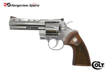 Colt Python Revolver, 357 Mag 4.25″ Stainless Barrel Rangeviewsports Canada