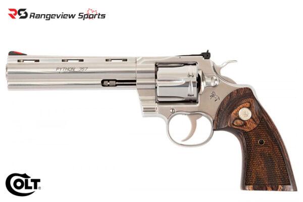 Colt Python Revolver, 357 Mag 6″ Stainless Barrel rangeviewsports canada