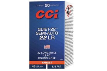 CCI Quiet-22 Semi-Auto 22 LR Rimfire Ammo, 45Gr RN 835FPS – 500Rds