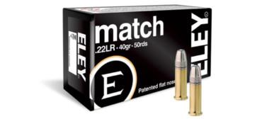 Eley Match 22 LR Rimfire Ammo, 40Gr FN 1085FPS – 50Rds rangeviewsports